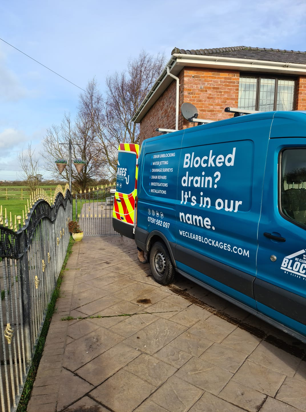 we clear blockages van on a job